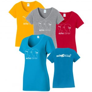 Ladie's, Echo Center Premium Cotton T shirt